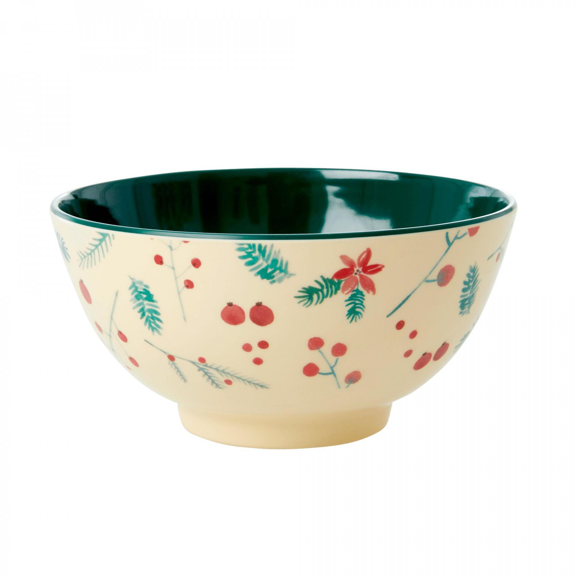 rice Melaminová miska Poinsettia, krémová barva, melamin