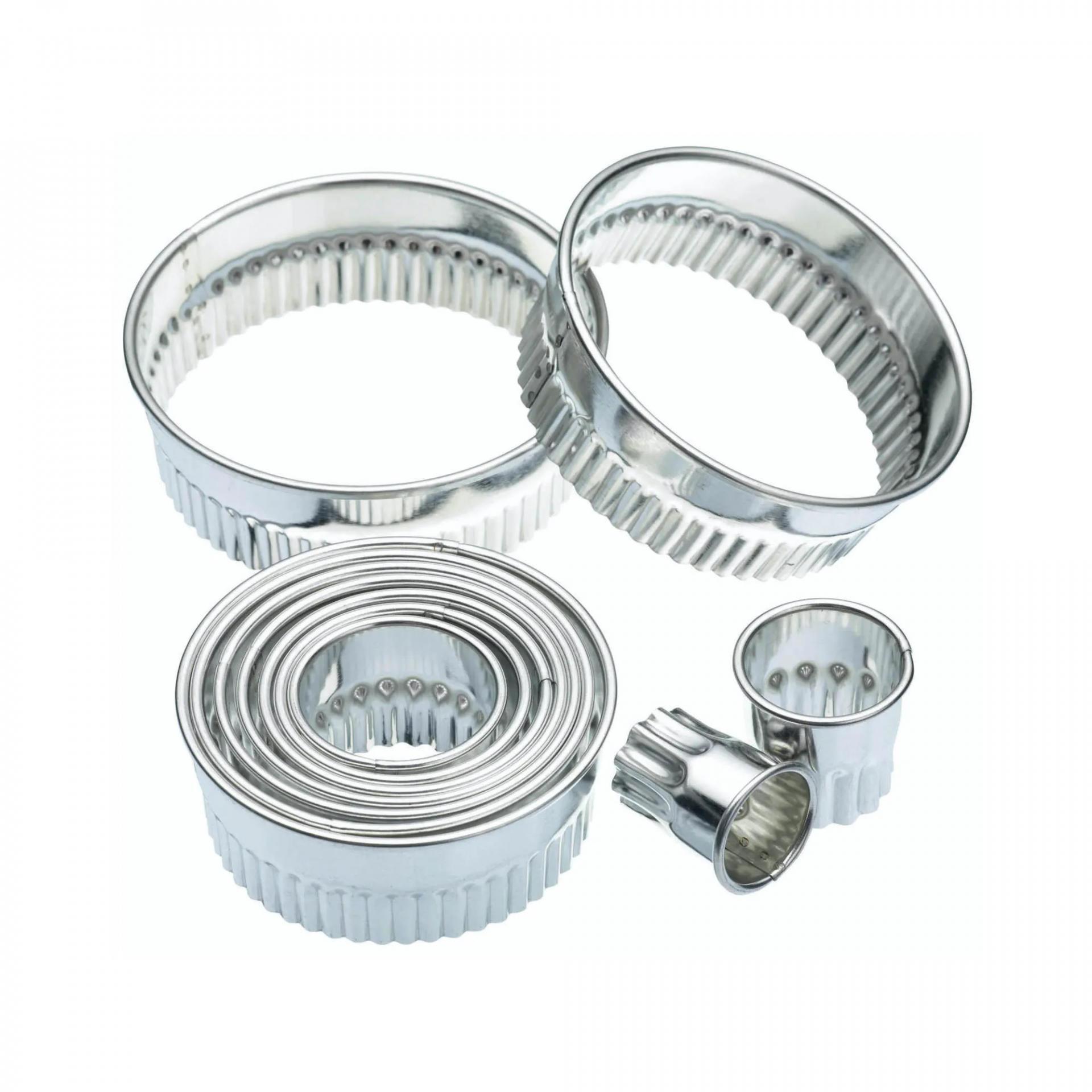 Kitchen Craft Set vykrajovátek Cookie - 10 ks, stříbrná barva, kov