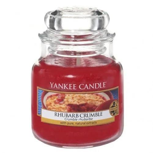 Yankee Candle Svíčka Yankee Candle 104g - Rhubarb Crumble, červená barva, sklo