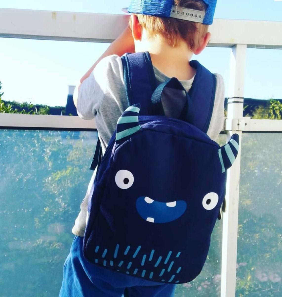 A Little Lovely Company Dětský batůžek Monster 5,5 l, modrá barva, textil