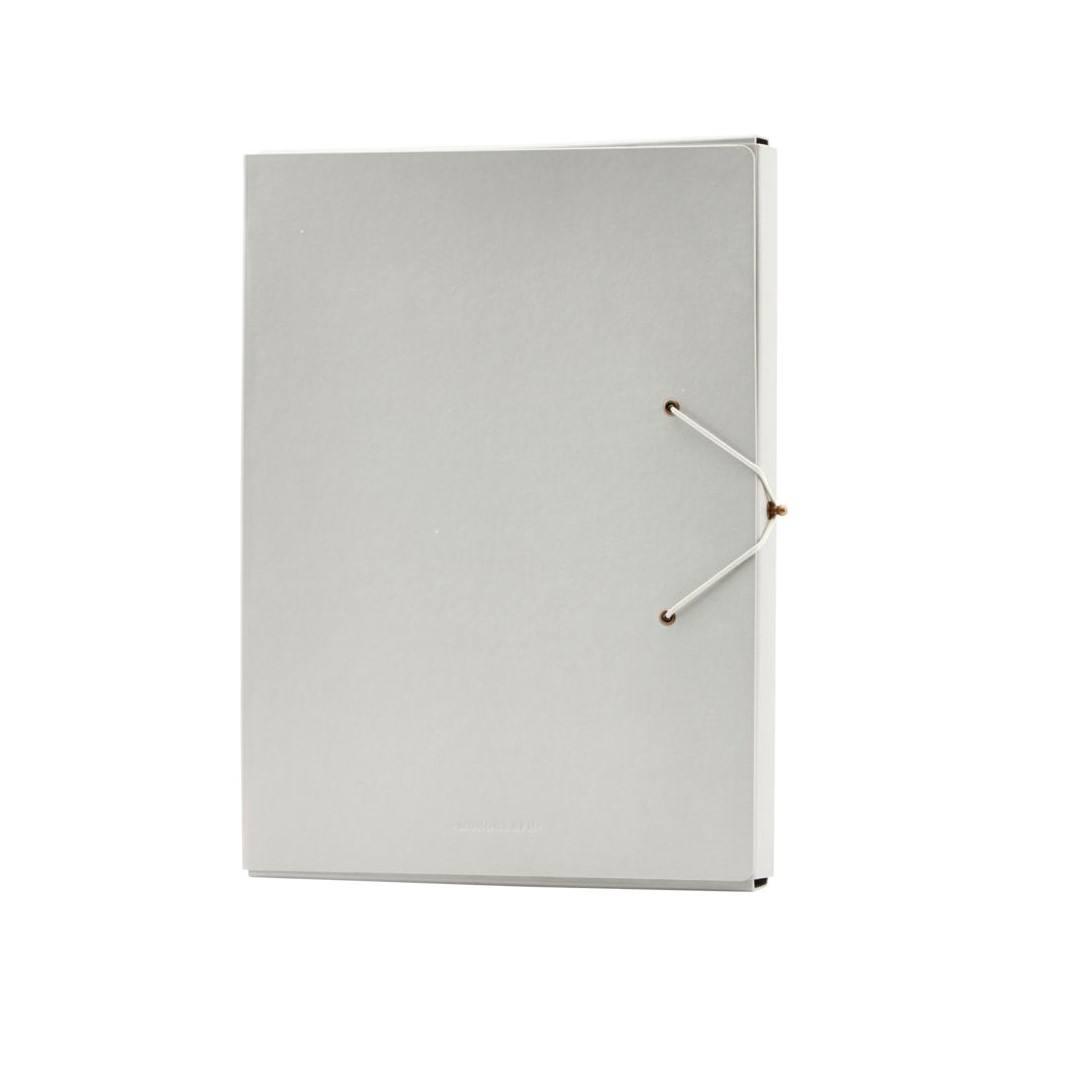 MONOGRAPH Papírová složka na dokumenty Grey, šedá barva, papír
