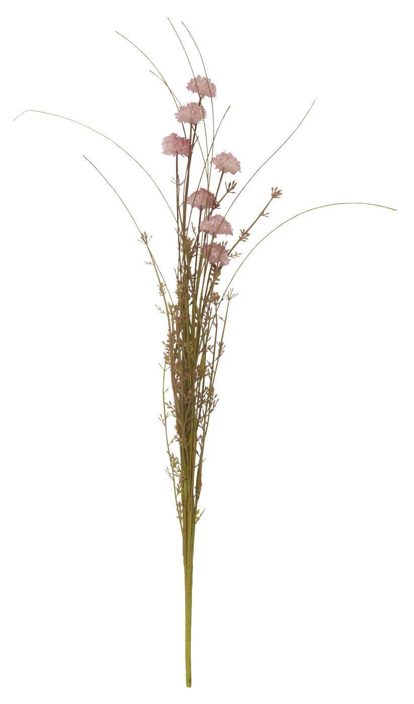 IB LAURSEN Dekorativní umělé květy Pink Flowers, růžová barva, plast