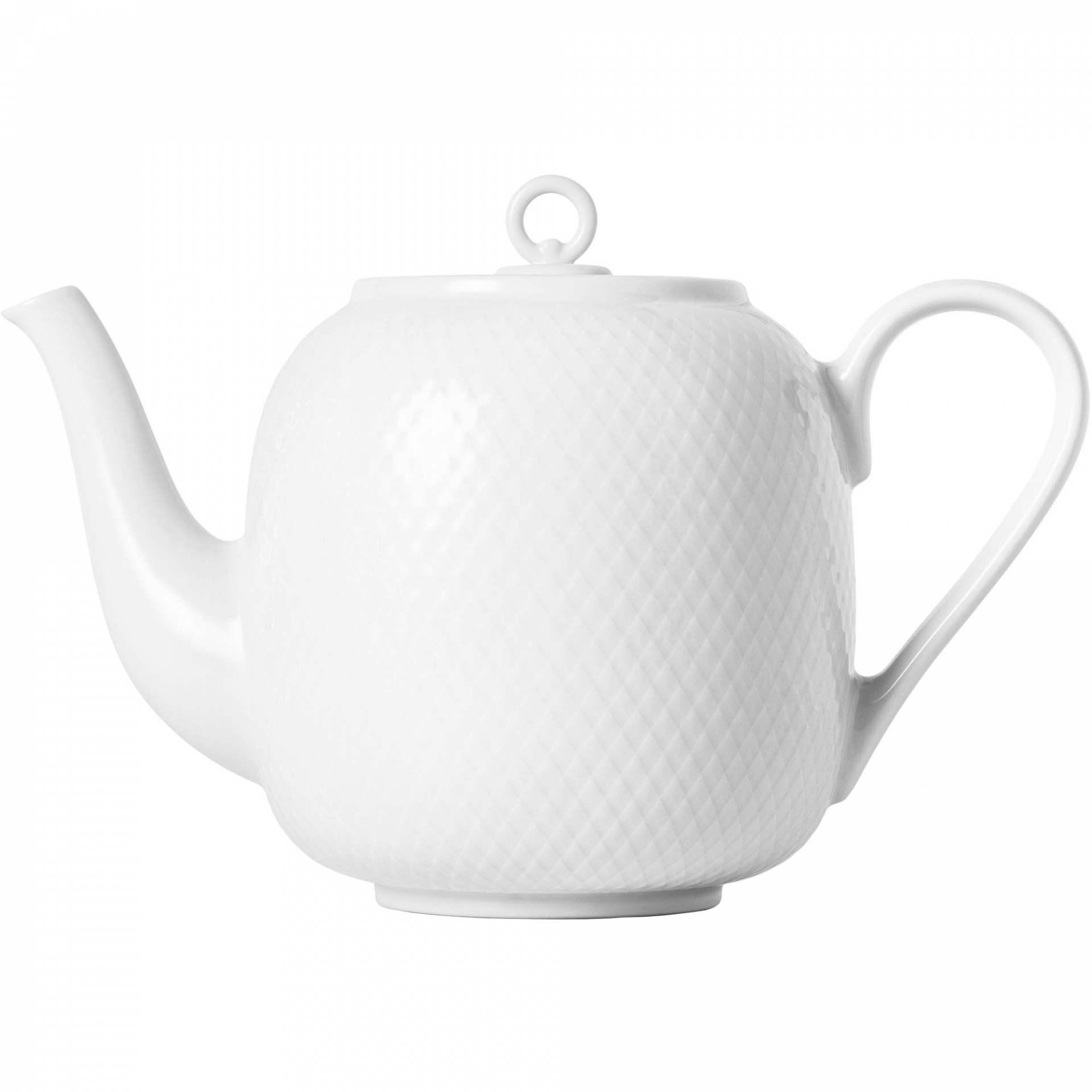 LYNGBY Porcelánová konvice Rhombe White 1,9 l, bílá barva, porcelán