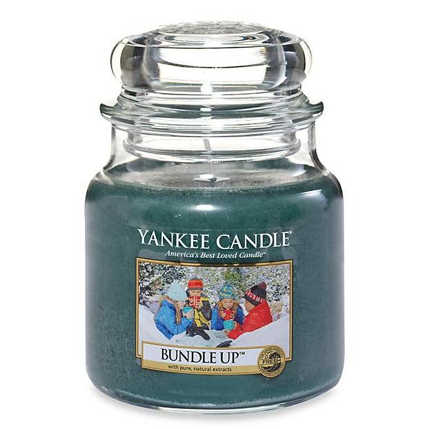 Yankee Candle Svíčka Yankee Candle 411gr - Bundle Up, zelená barva, vosk