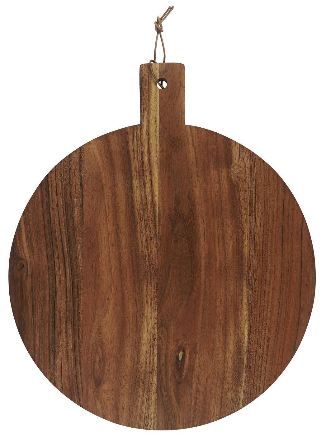 IB LAURSEN Dřevěné prkénko Round Oiled Acacia, hnědá barva, dřevo