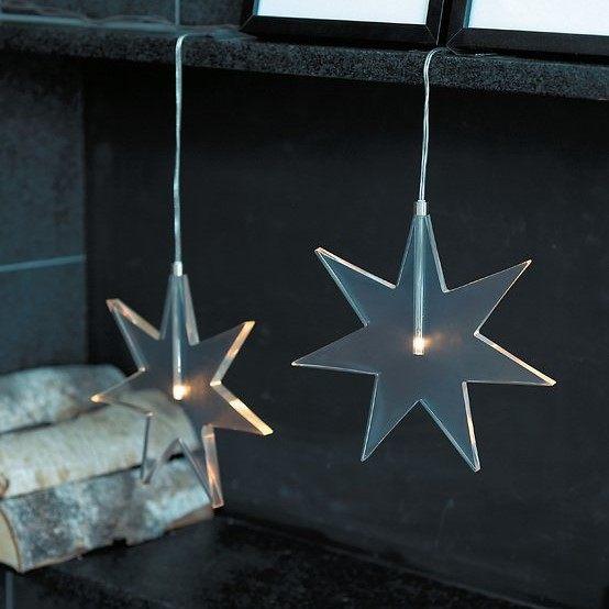 Sirius Home Svítící LED hvězda Luisa Clear 25 cm, čirá barva, plast