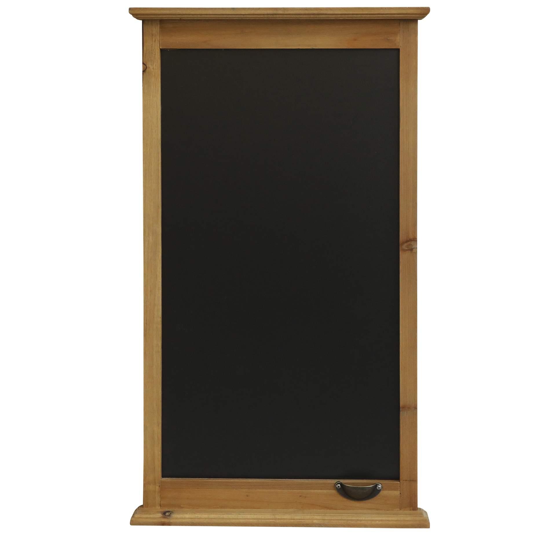 Chic Antique Popisovací tabule s držátkem na křídu Nature, černá barva, přírodní barva, dřevo, kov, dřevotříska