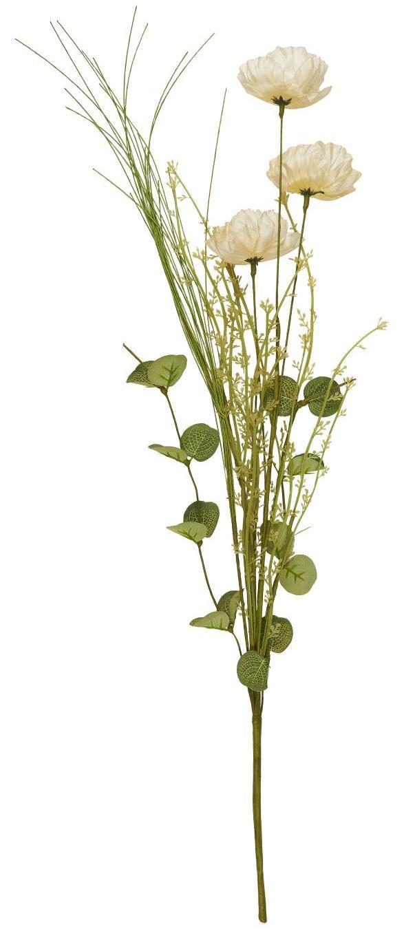IB LAURSEN Dekorativní umělé květy Cream Tones, zelená barva, krémová barva, plast