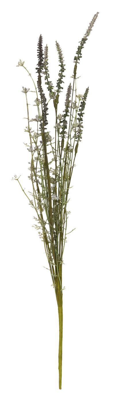 IB LAURSEN Dekorativní umělé květy Grey Tones, zelená barva, šedá barva, plast