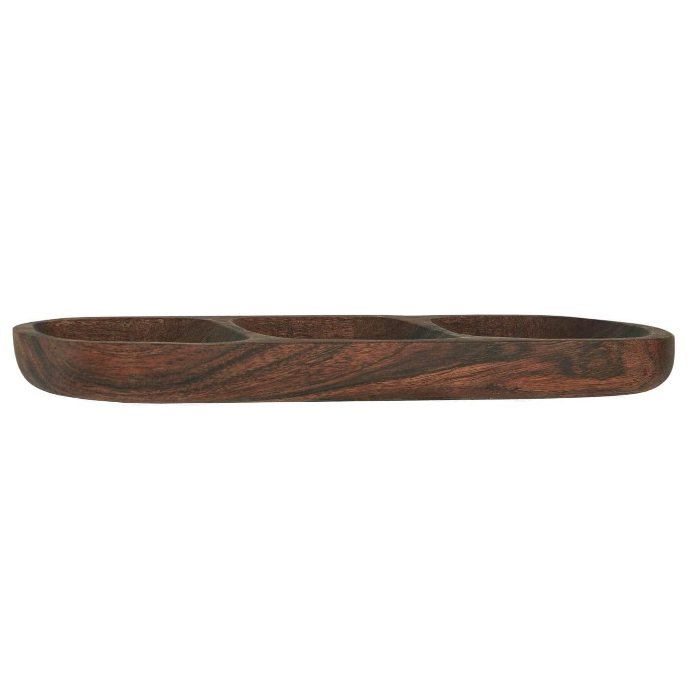 IB LAURSEN Dřevěný servírovací tác Acacia Wood, přírodní barva, dřevo