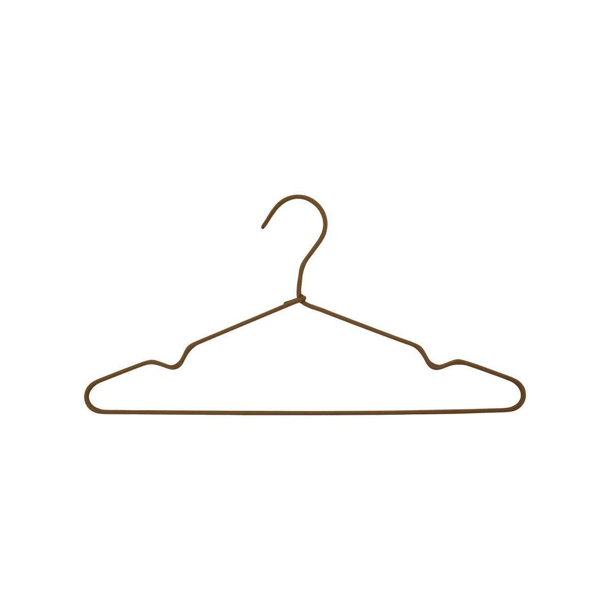 House Doctor Ramínko na šaty Brown - set 3 ks, hnědá barva, kov, textil