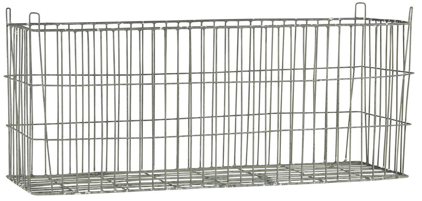 IB LAURSEN Drátěný košík Oblong Silver, stříbrná barva, kov