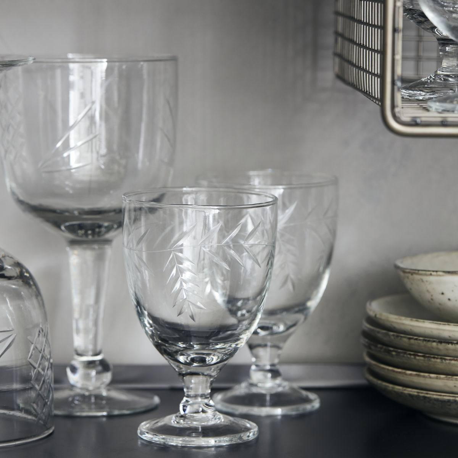 House Doctor Sklenice na víno Crys Clear, čirá barva, sklo