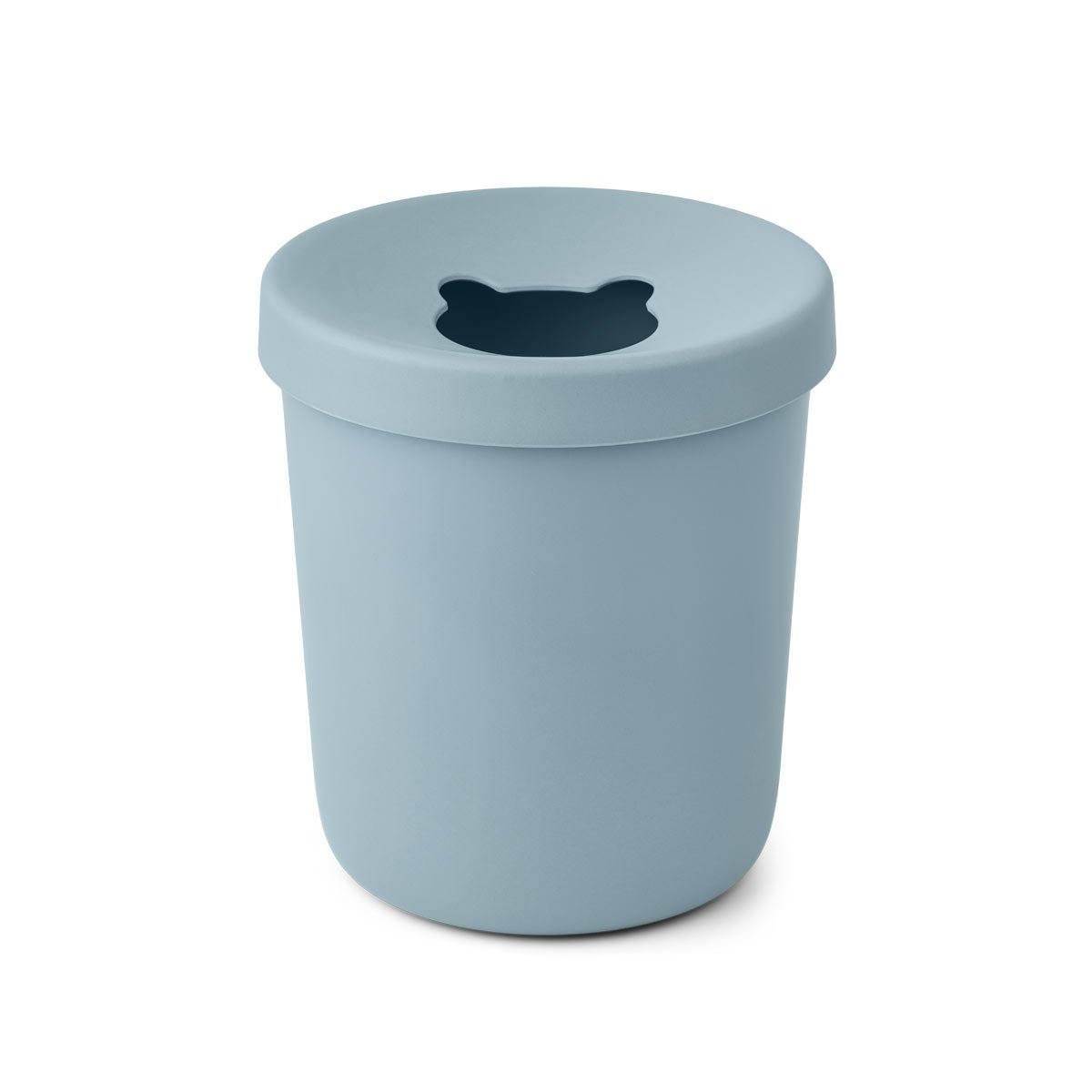 LIEWOOD Dětský odpadkový koš Evelina Sea Blue 5 l, modrá barva, melamin