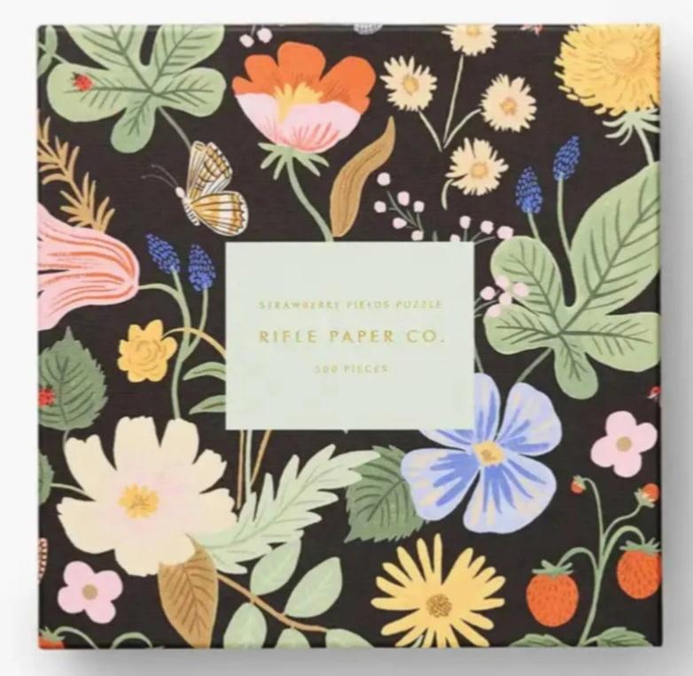 Rifle Paper Co. Květinové puzzle Strawberry Fields - 500 dílků, černá barva, multi barva, papír