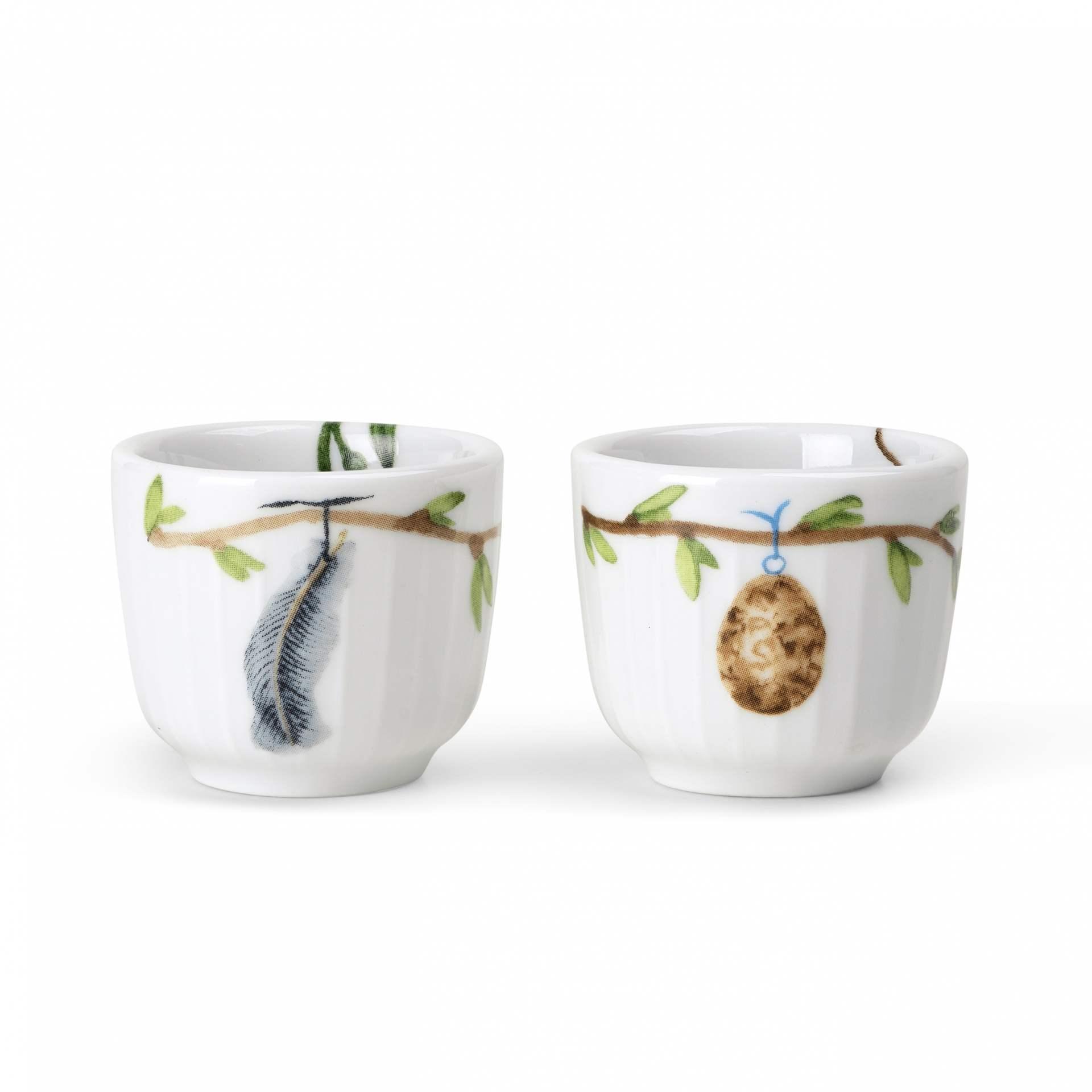 KÄHLER Stojánek na vajíčko Hammershøi Spring - set 2 ks, bílá barva, porcelán