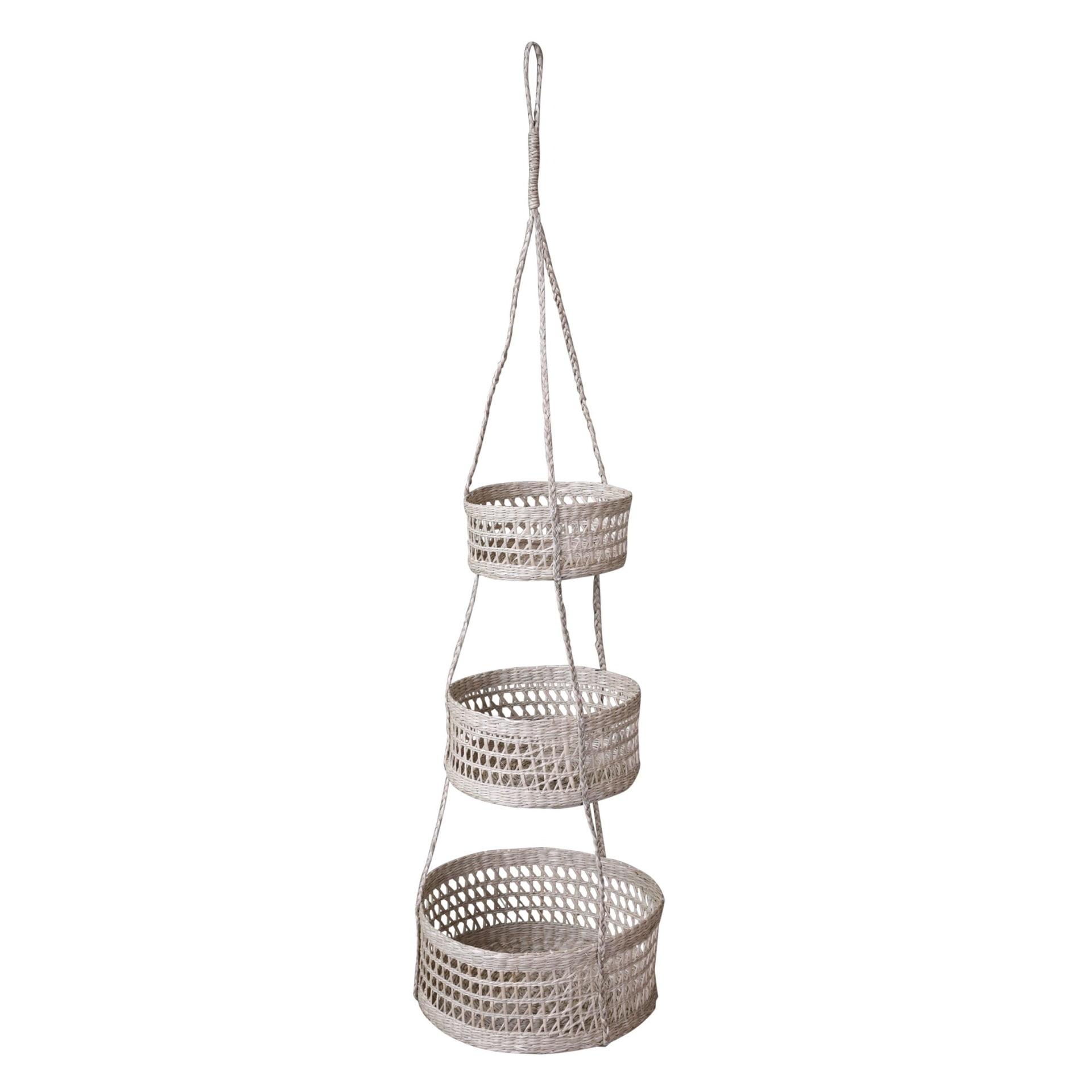 Chic Antique Závěsný set košíků Seagrass, přírodní barva