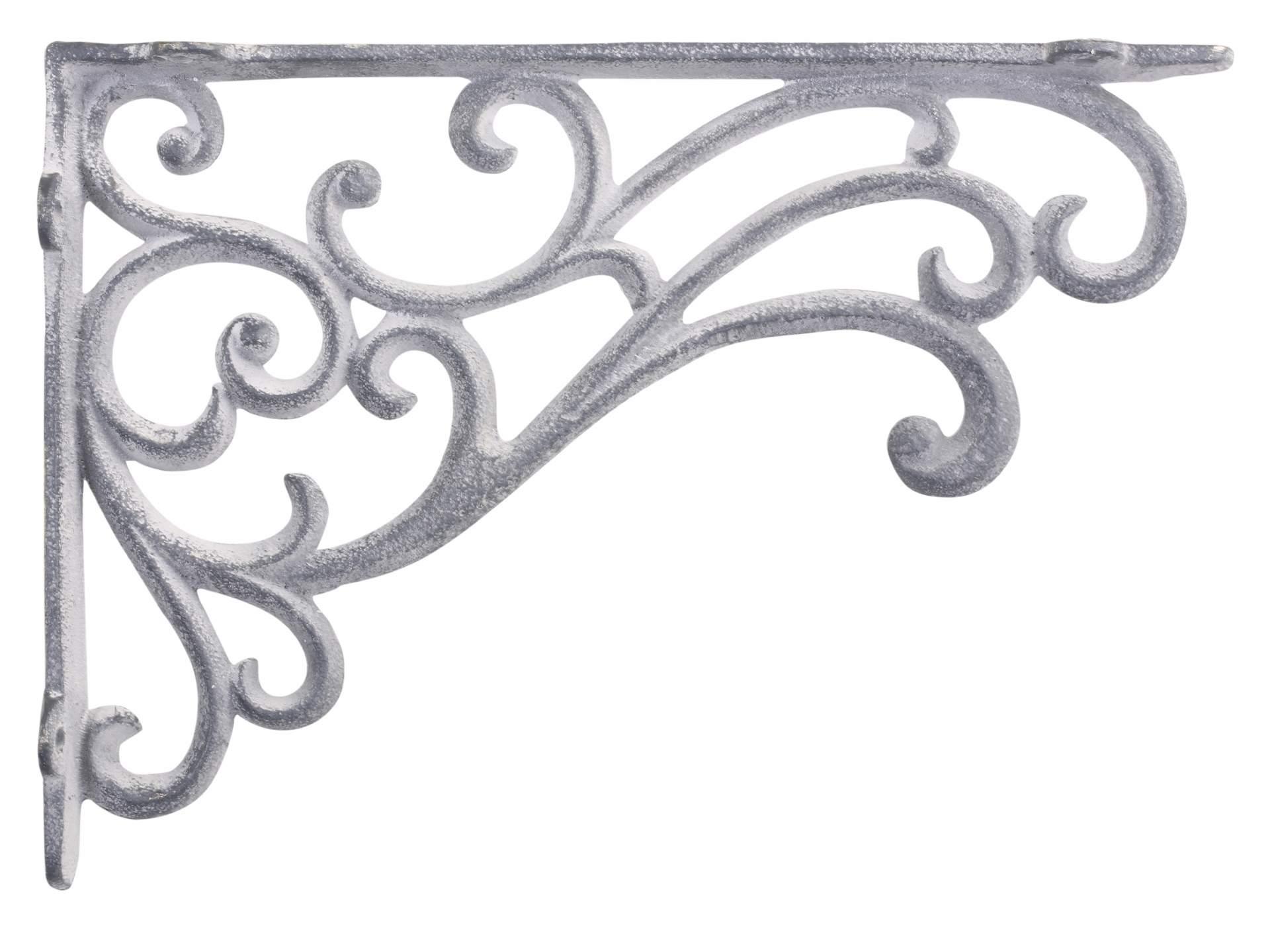 Chic Antique Kovová konzole Antique Grey 25cm, šedá barva, kov