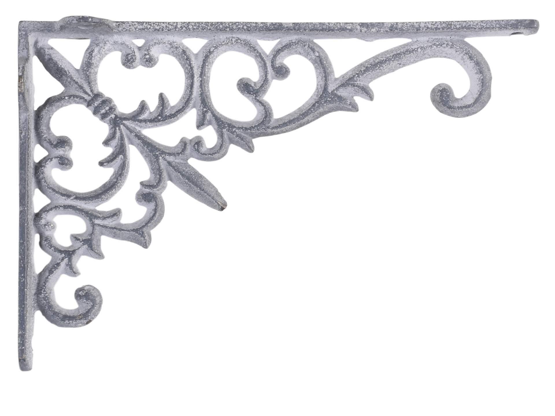 Chic Antique Kovová konzole Antique Grey, šedá barva, kov