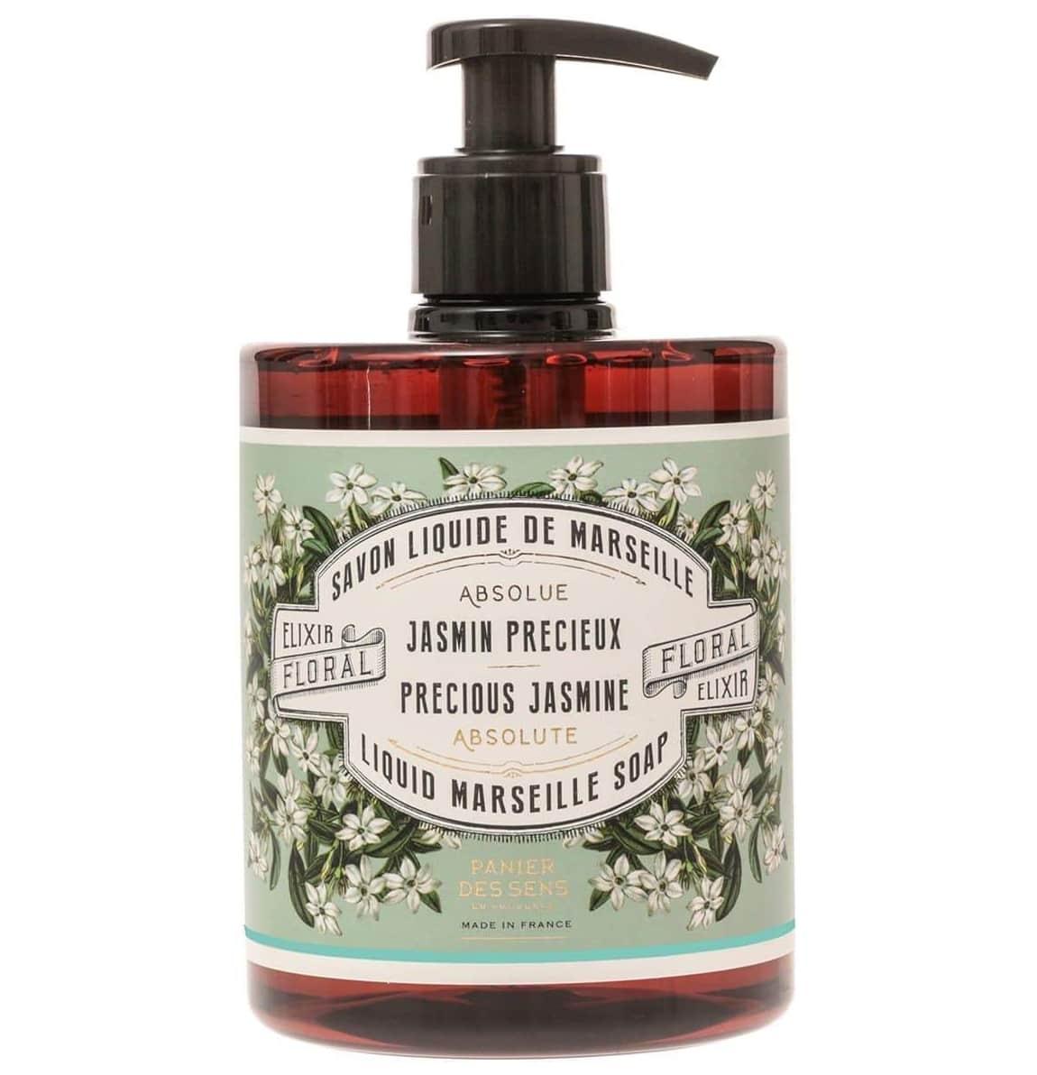 Panier des Sens Tekuté mýdlo Precious Jasmine 500ml, zelená barva, plast