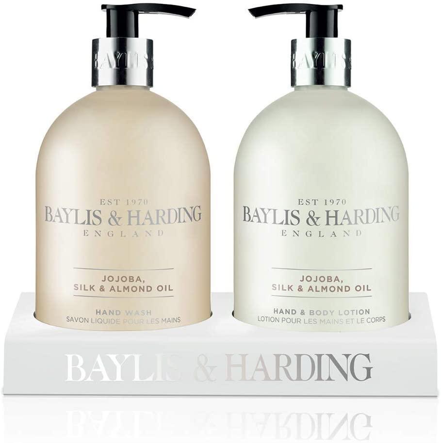 Baylis & Harding Sada s péčí o ruce Jojoba, Vanilla and Almond Oil, béžová barva, plast
