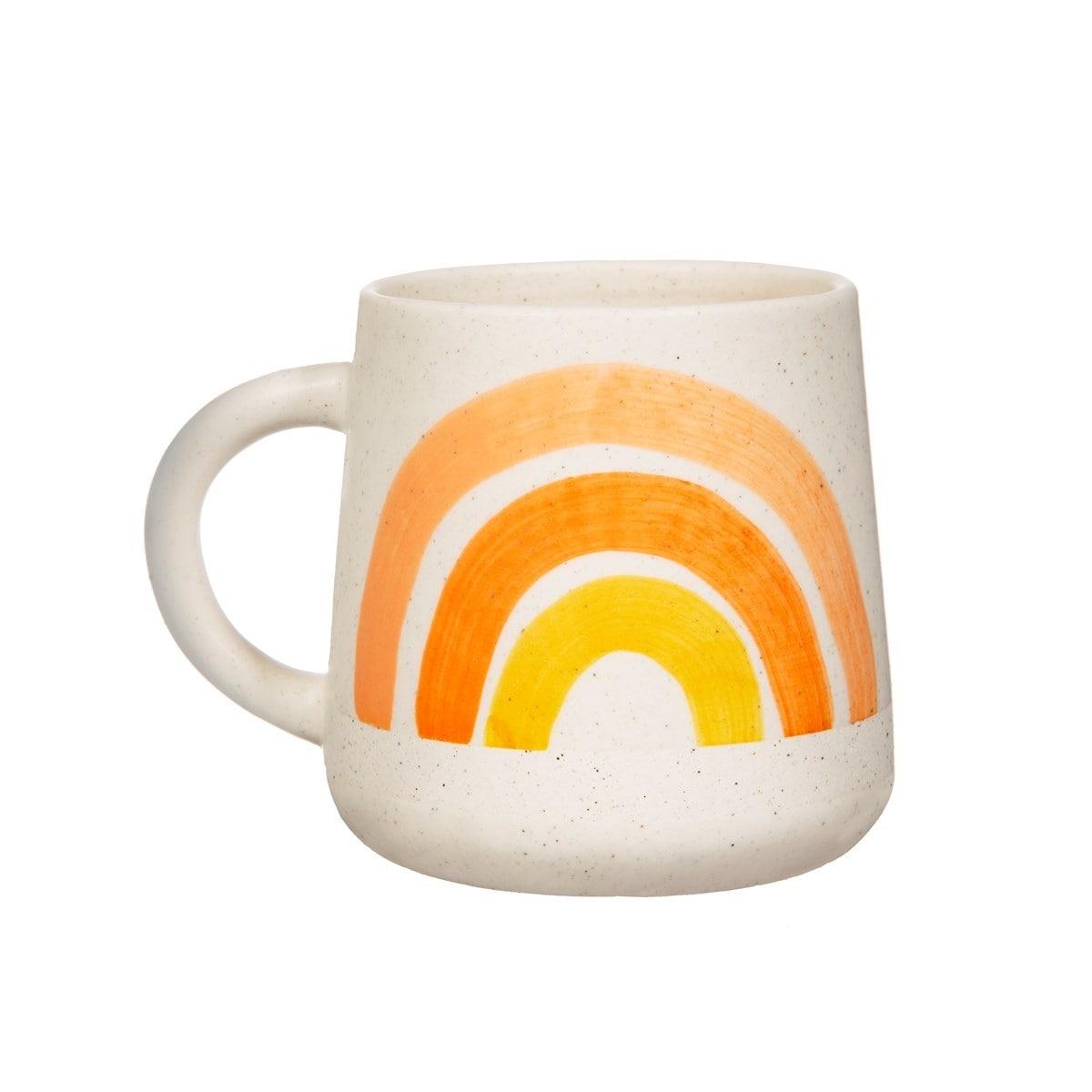 sass & belle Keramický hrnek Rainbow 500 ml, žlutá barva, oranžová barva, keramika