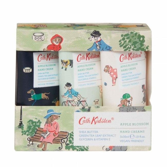 Cath Kidston Krém na ruce Park Dogs - Set 3 ks, zelená barva, plast