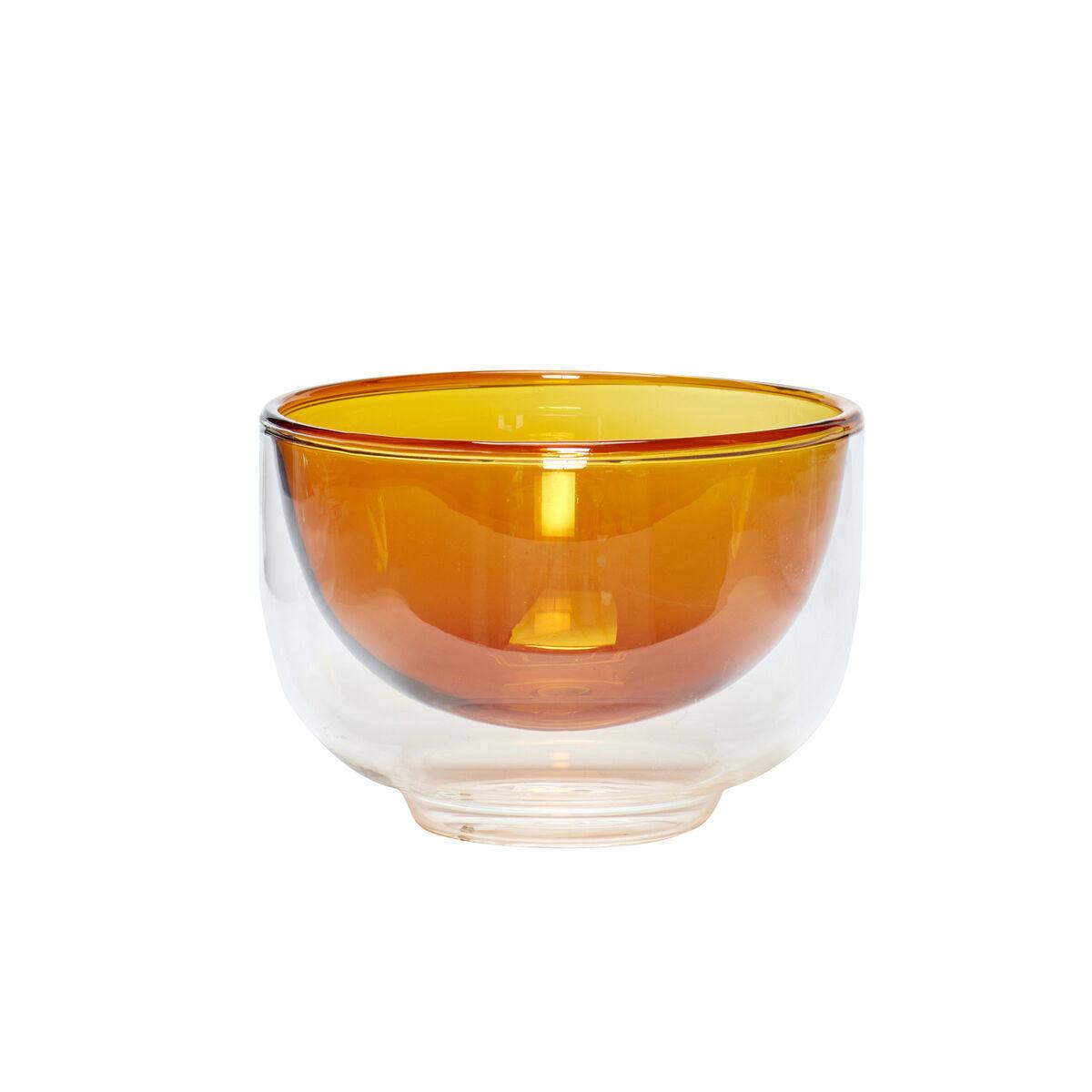 Hübsch Skleněná mísa Clear Amber, čirá barva, sklo
