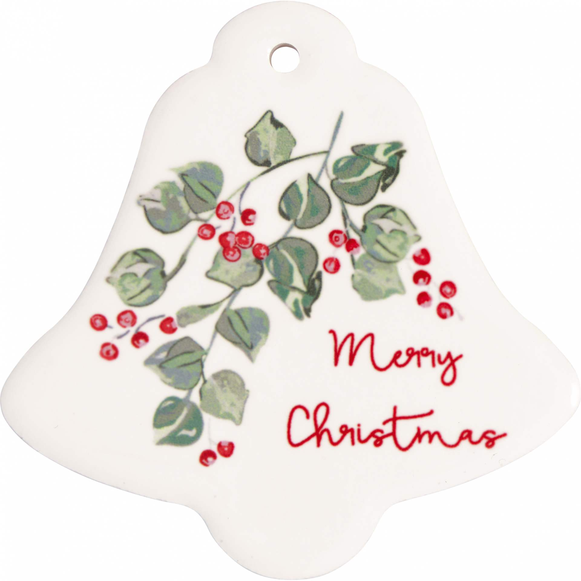 GREEN GATE Keramický magnet Merry Christmas White - Set 4 ks, bílá barva, keramika