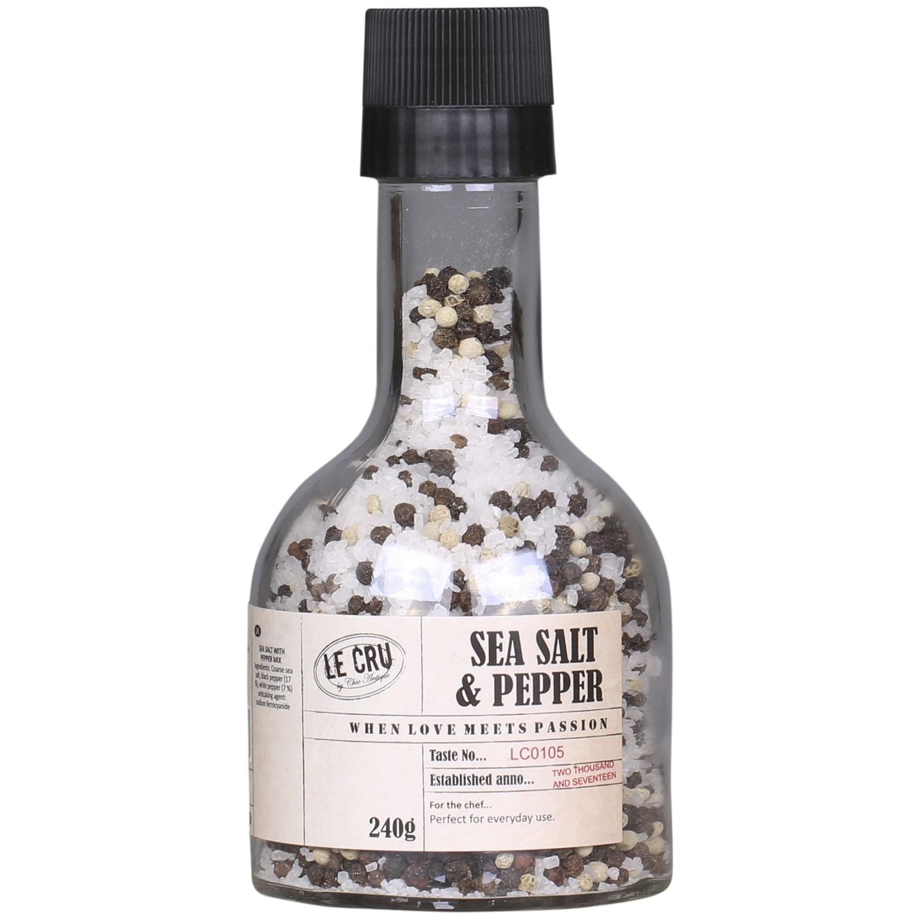 LE CRU Delicacies Směs soli a pepře v mlýnku 240 g, čirá barva, sklo