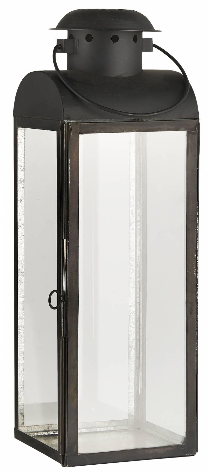 IB LAURSEN Lucerna Metal Oscar, černá barva, sklo, kov