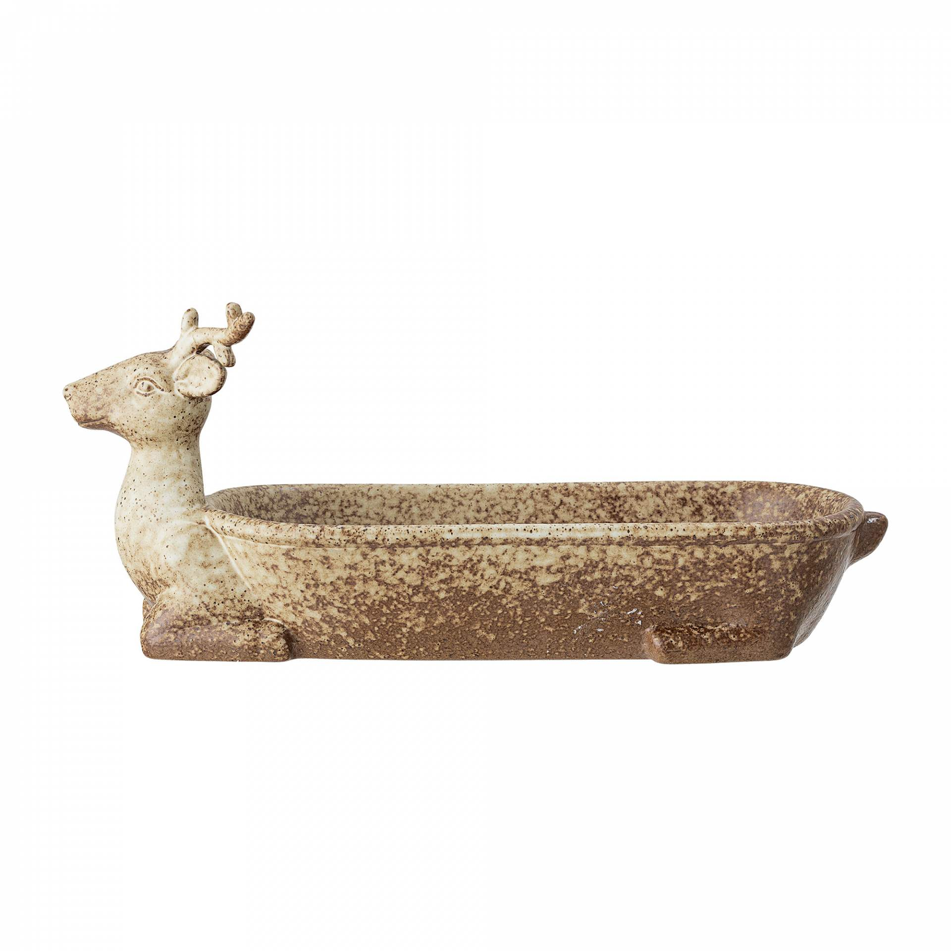 Bloomingville Podnos Atria Stoneware, přírodní barva, keramika