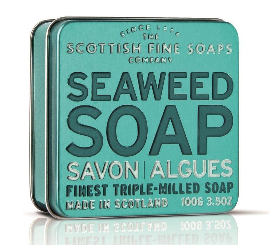 SCOTTISH FINE SOAPS Dárkové mýdlo v plechovce - mořské řasy, modrá barva