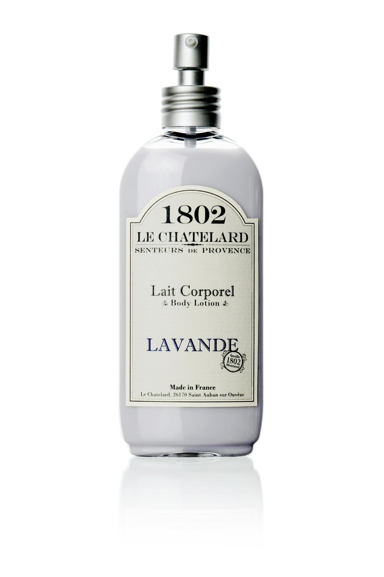 LE CHATELARD Levandulové tělové mléko, bílá barva