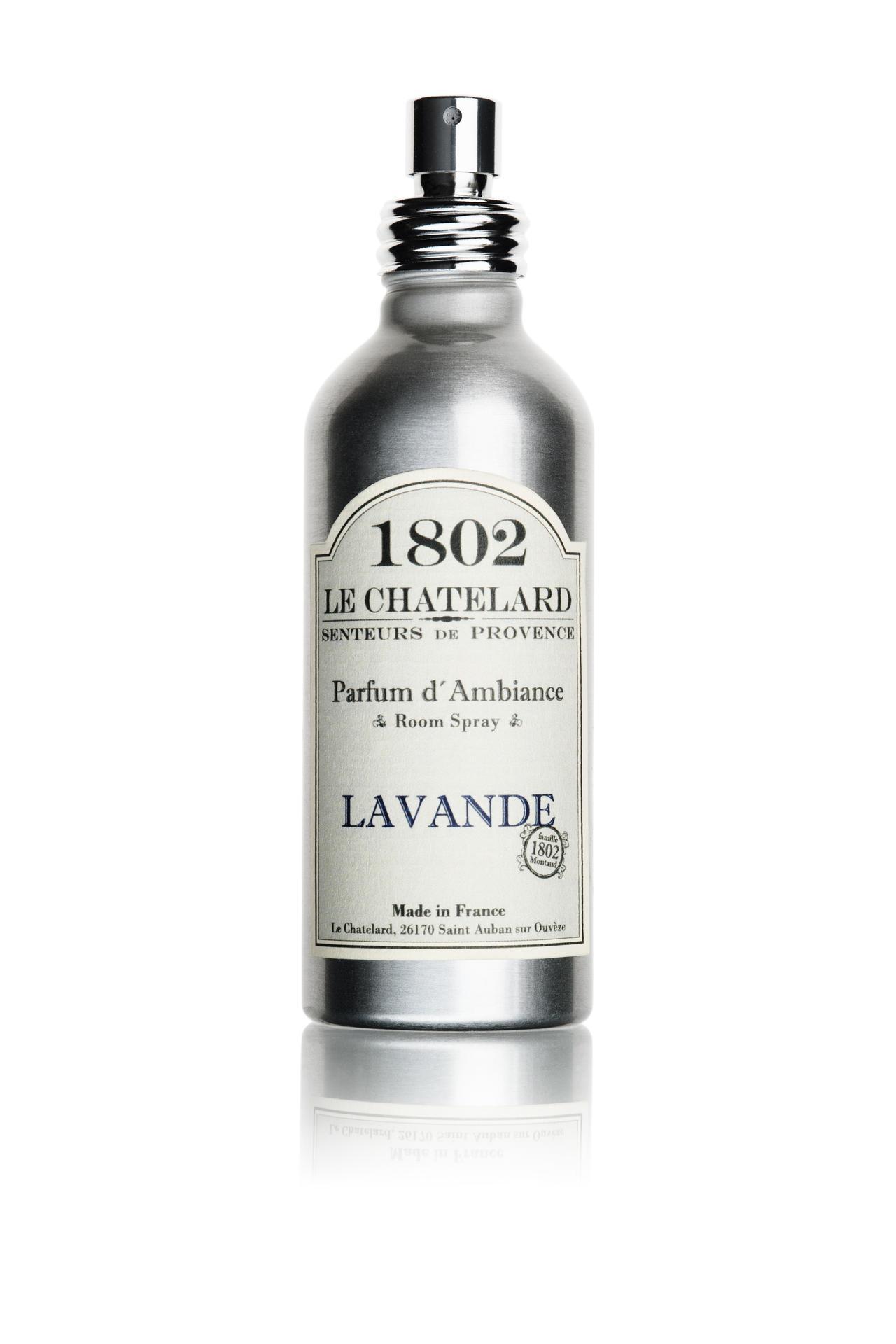 Le Chatelard Prostorový levandulový parfém, šedá barva, kov