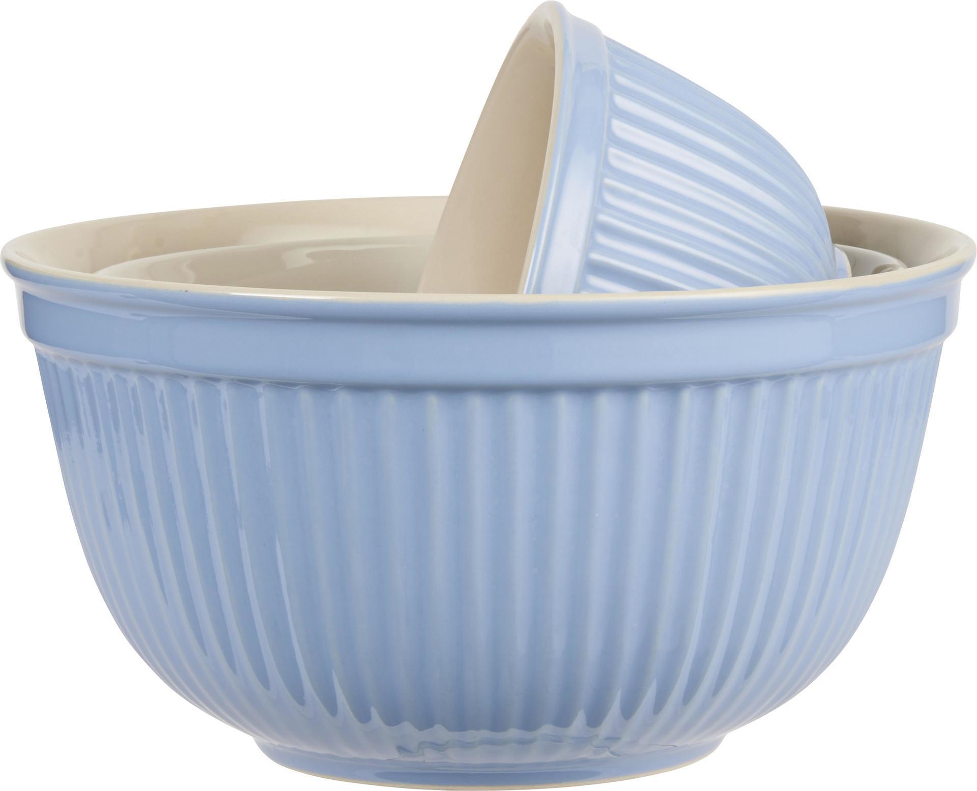 IB LAURSEN Keramická mísa Mynte nordic sky Velikost S, modrá barva, keramika