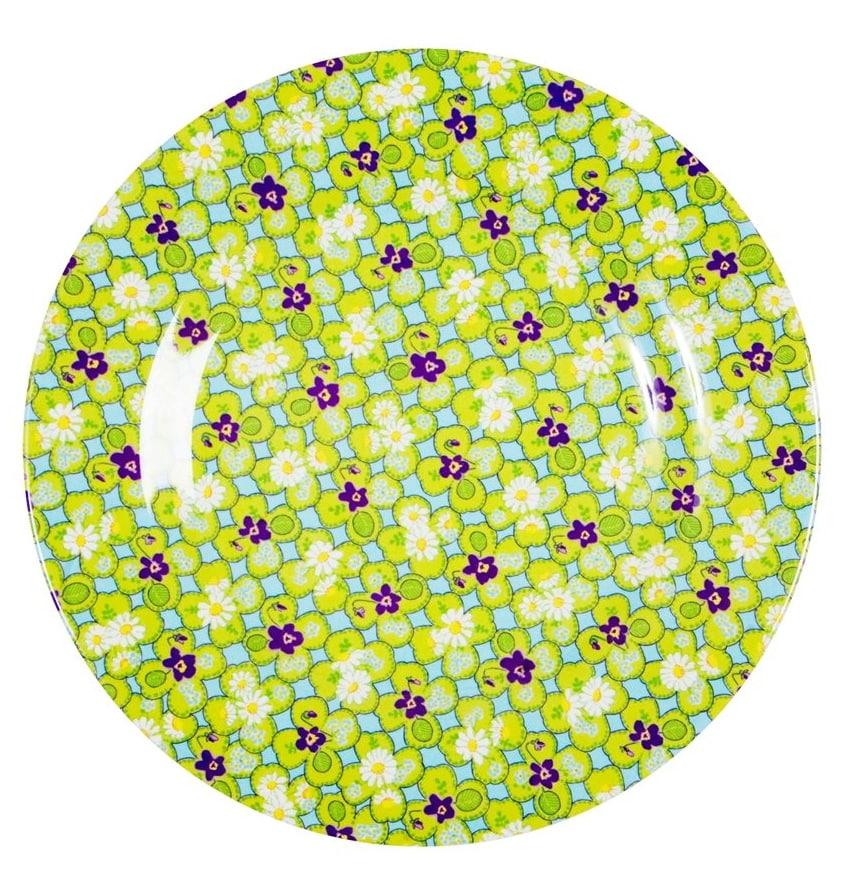 Rice Melaminový talíř zeleno-fialový