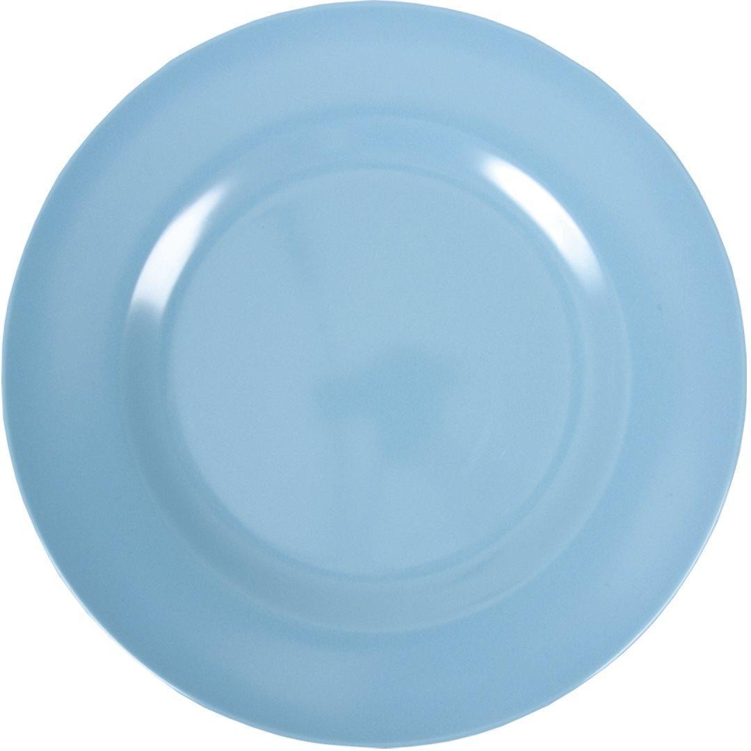 Rice Melaminový talíř 25 cm - modrý