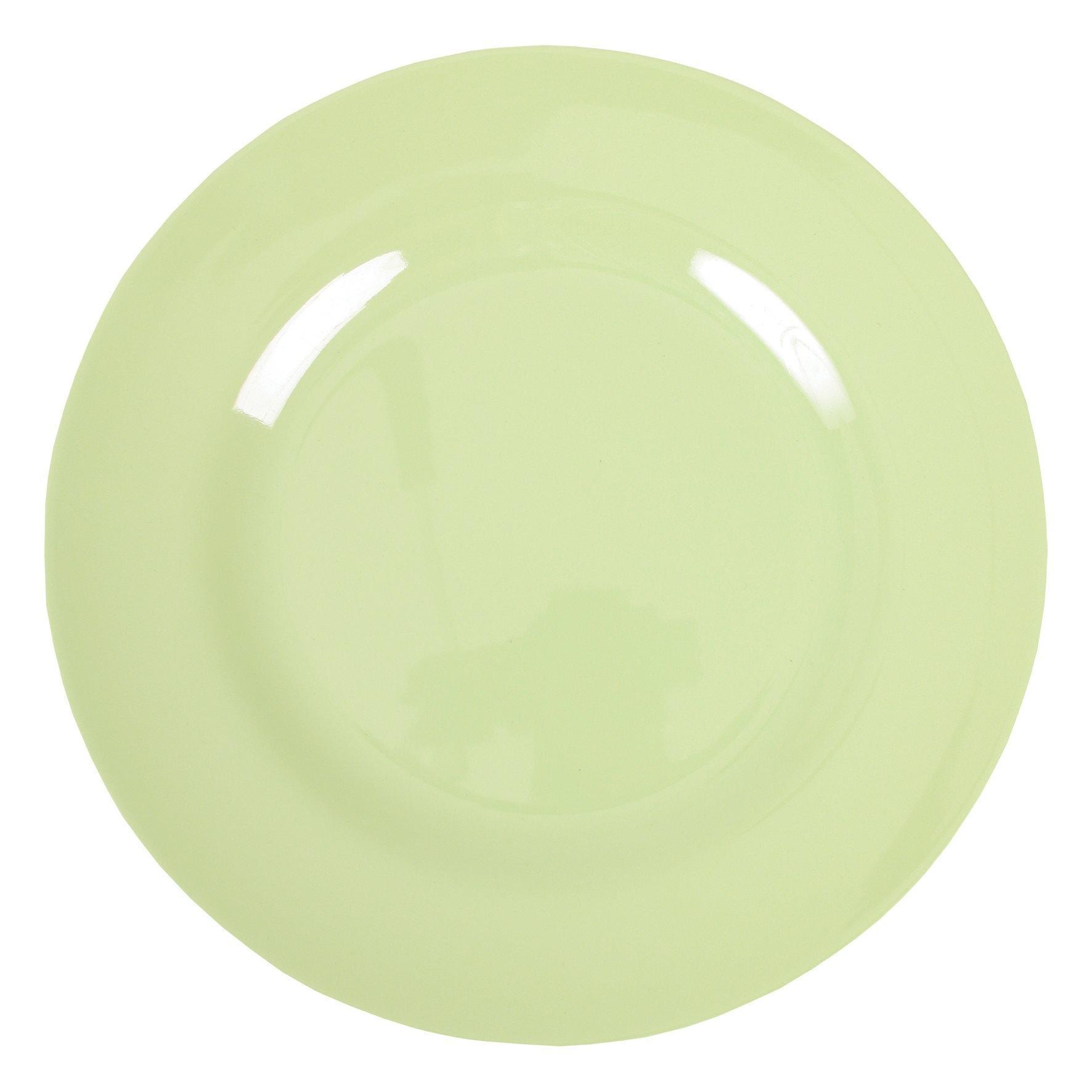 rice Melaminový talíř 25 - zelený, zelená barva, melamin