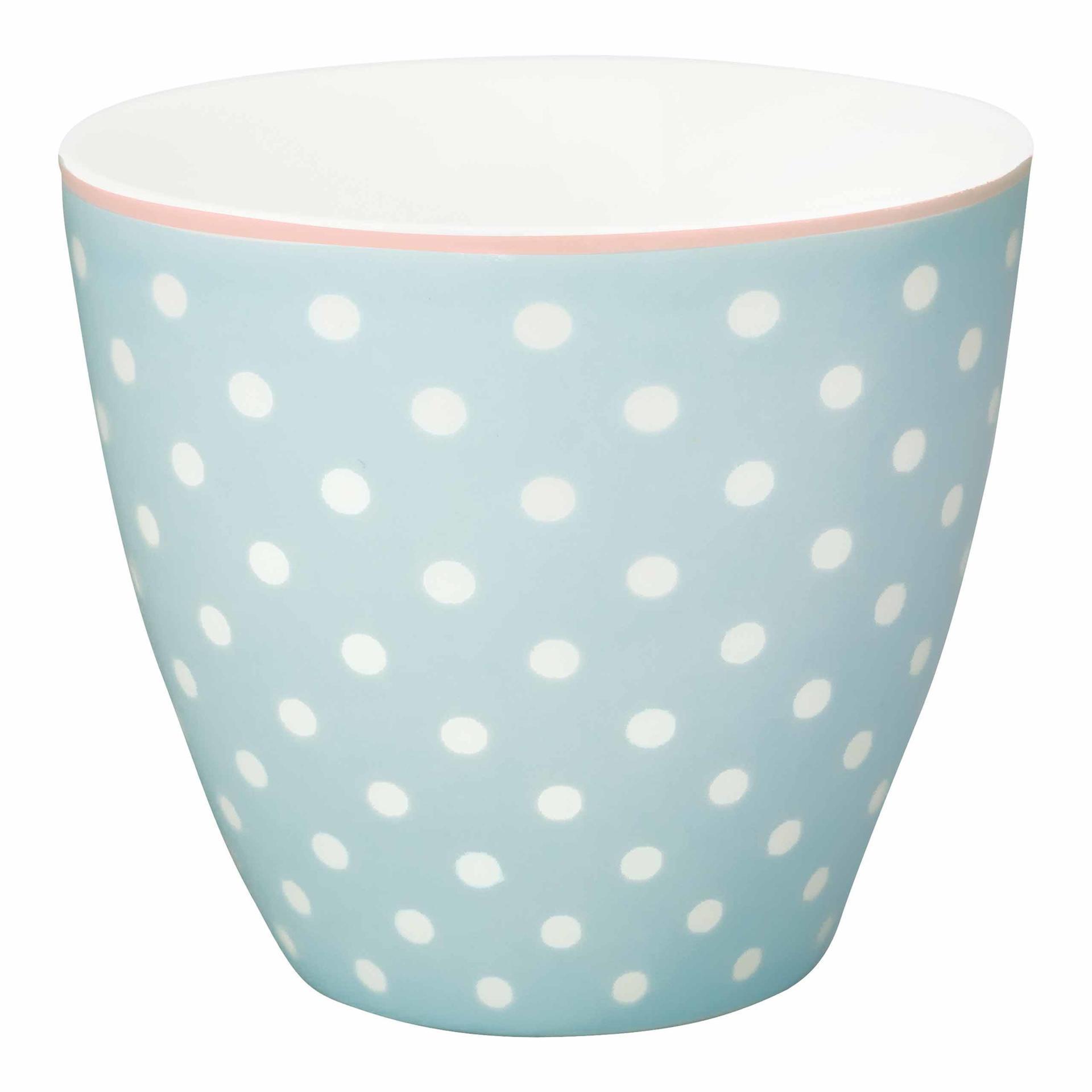 GREEN GATE Latte cup spot Pale blue, modrá barva, porcelán