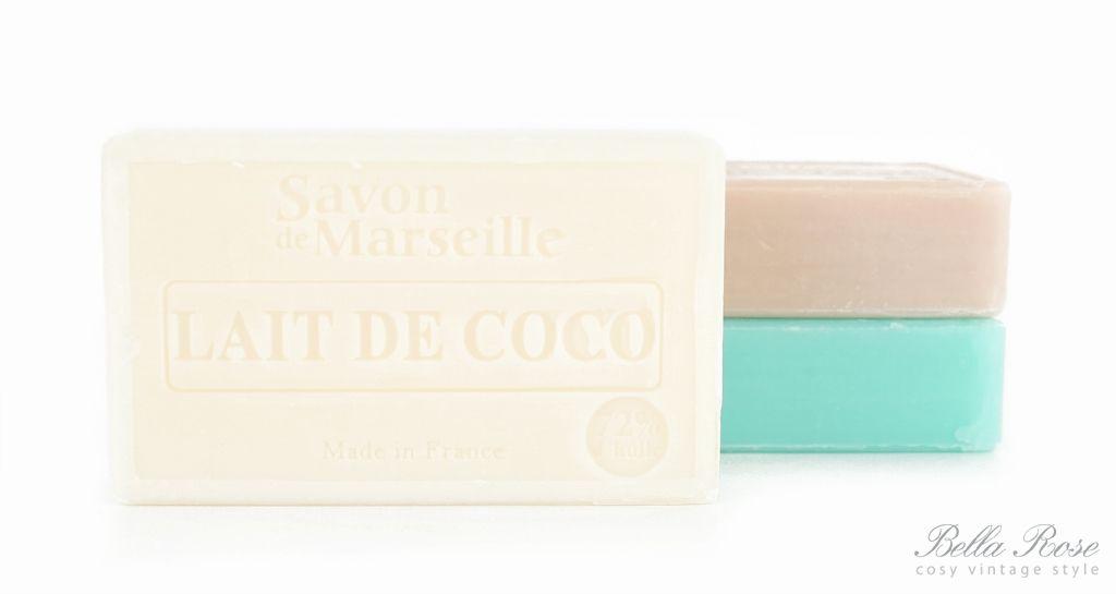 LE CHATELARD Mýdlo Marseille 100 g - kokosové mléko, bílá barva