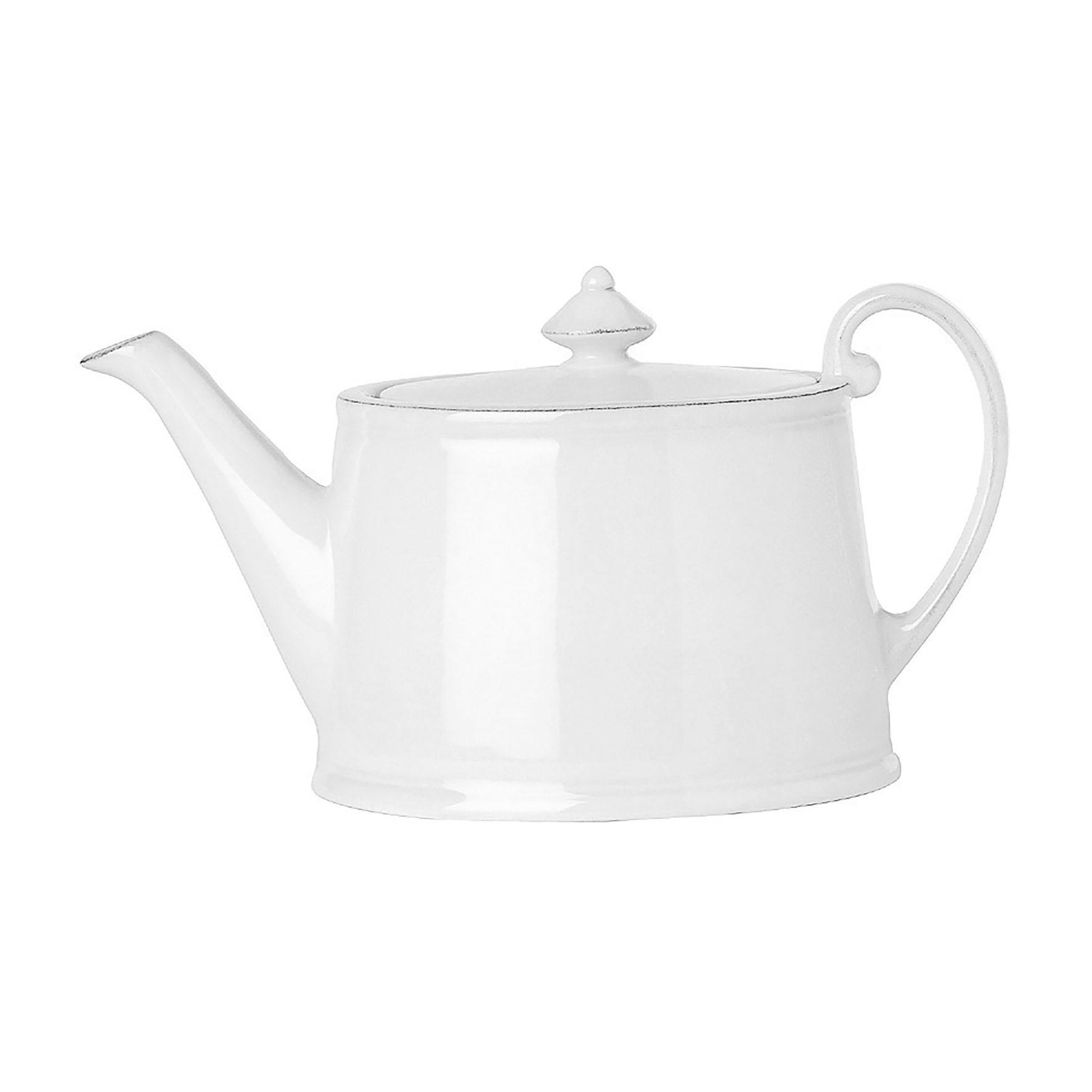 CÔTÉ TABLE Konvice na čaj Constance white, bílá barva, keramika