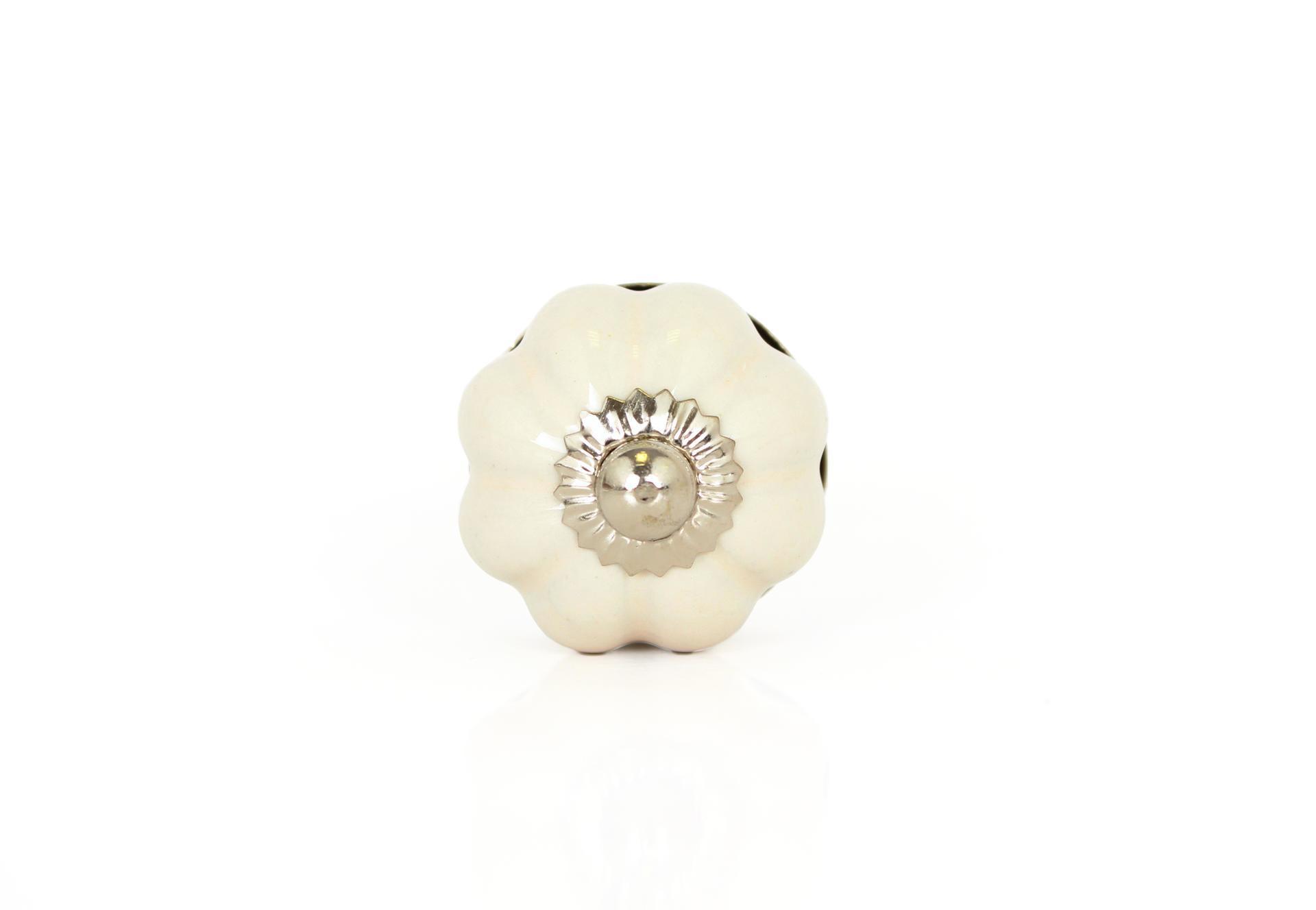 La finesse Porcelánová úchytka Cream small, béžová barva, porcelán
