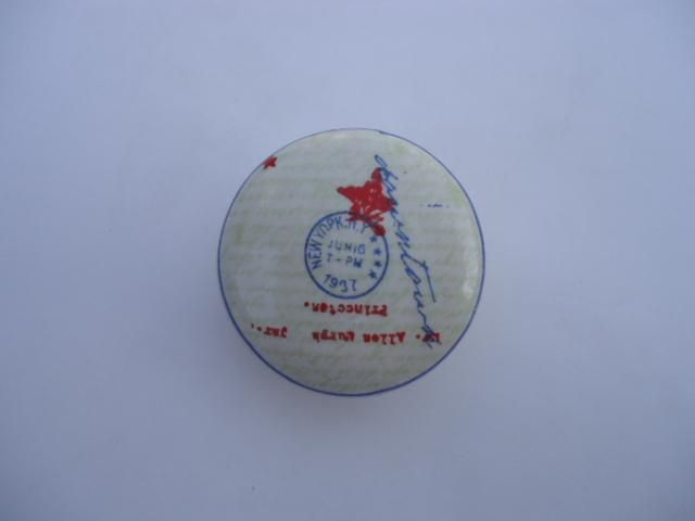 La finesse Porcelánová úchytka New York, červená barva, modrá barva, porcelán