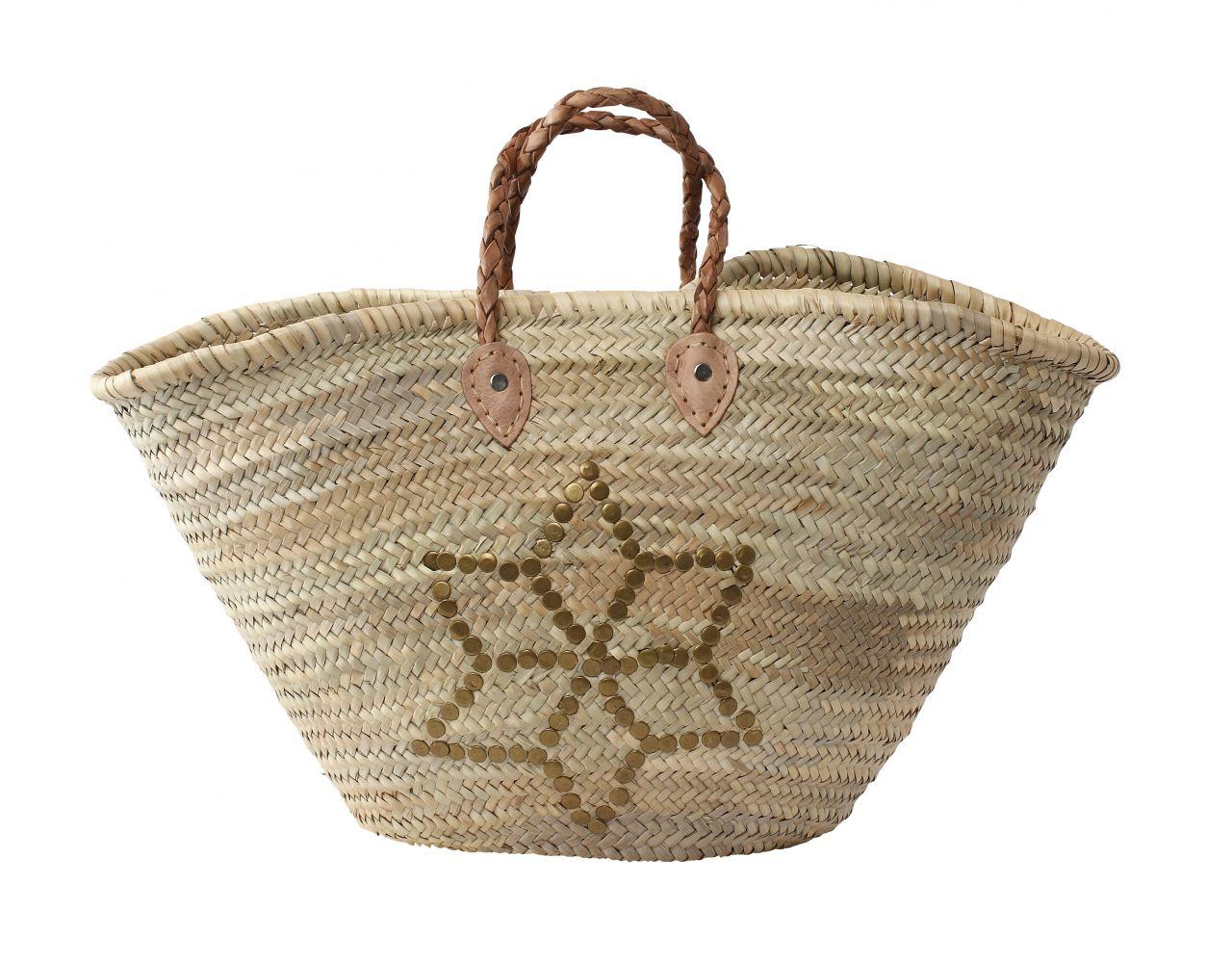 Maxi slámová taška Morocco Star
