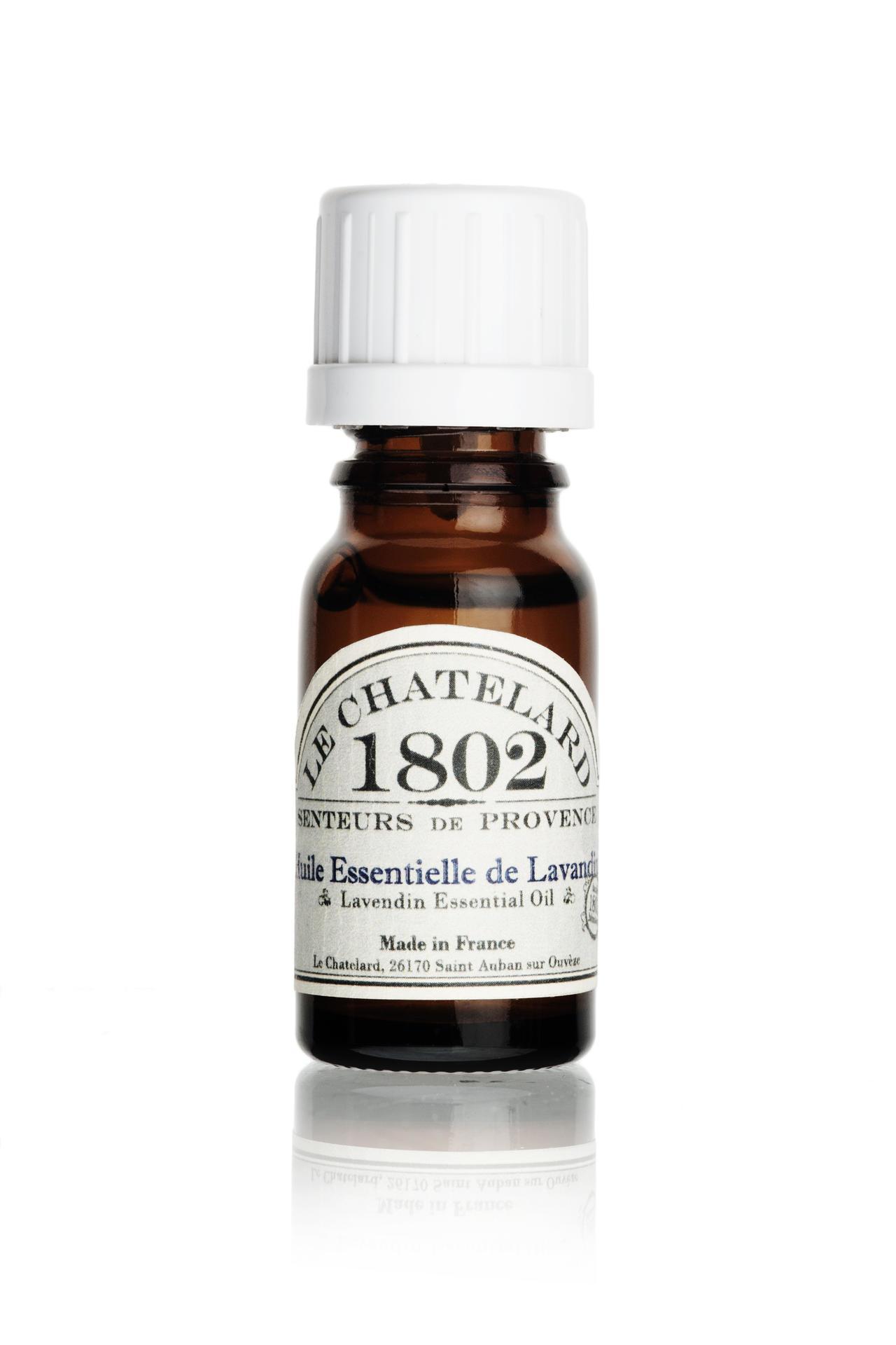 LE CHATELARD Difuzérový esenciální olej 10 ml, čirá barva, sklo
