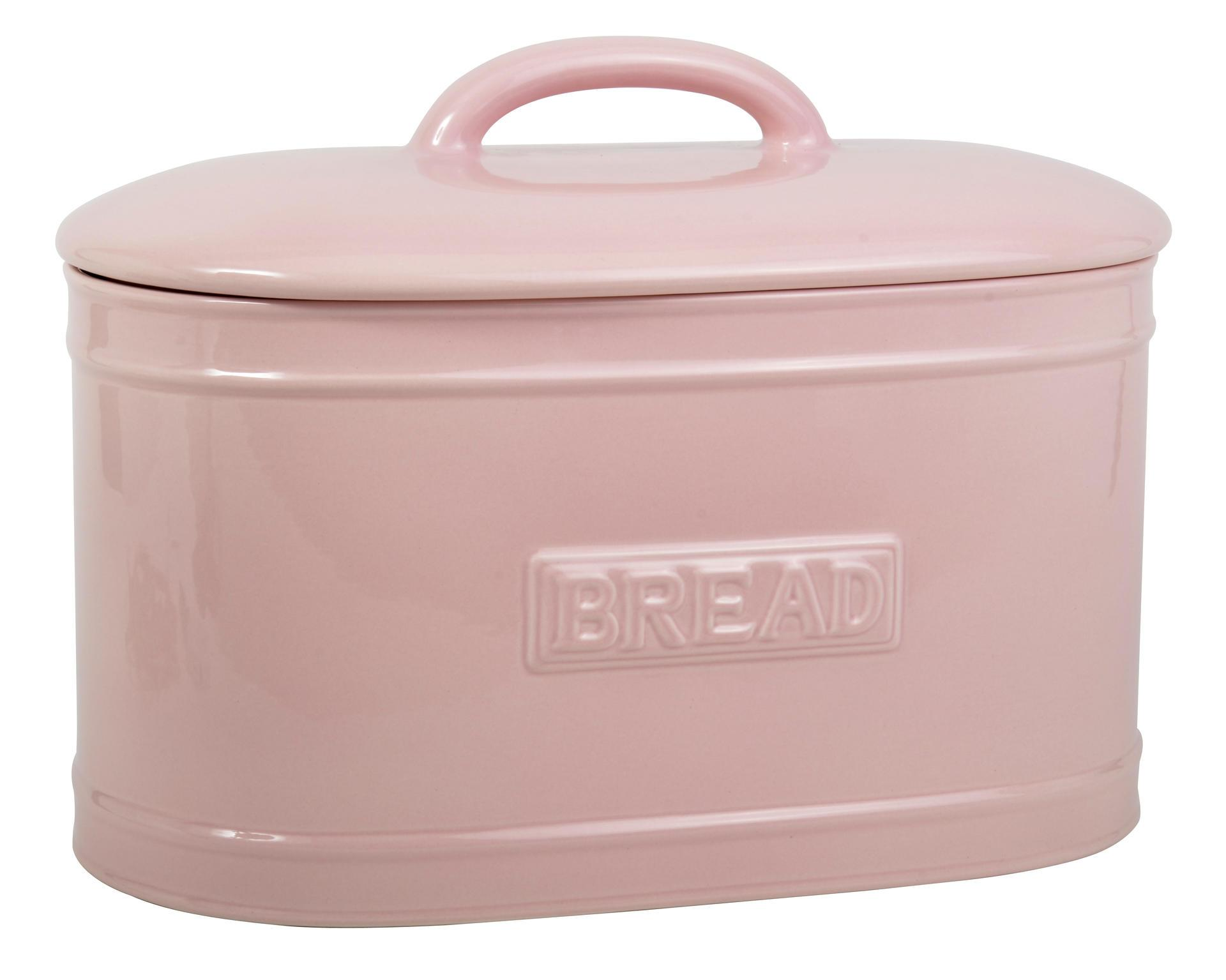 IB LAURSEN Porcelánový box Bread - růžový, růžová barva, keramika