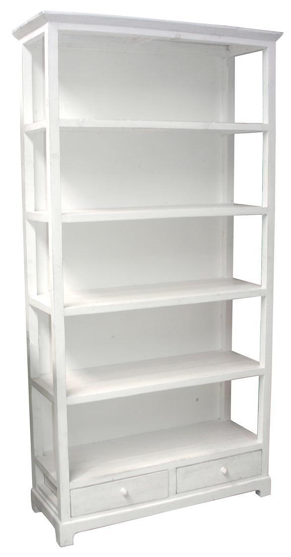 IB LAURSEN Dřevěná knihovna, bílá barva, dřevo