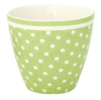 latte cup spot green bella rose. Black Bedroom Furniture Sets. Home Design Ideas
