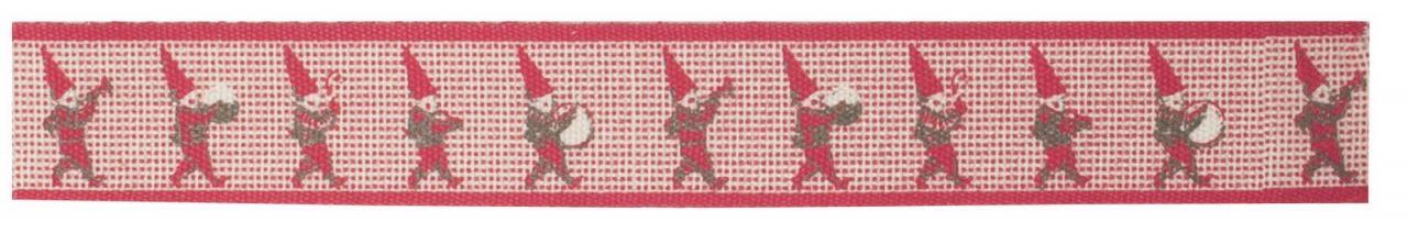 Maileg Dekorativní stuha Pixy, červená barva, textil